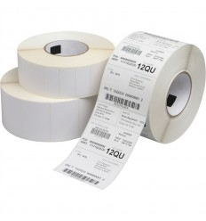 Etiqueta Blanco Mate Impresora Transferencia Térmica 40x25 y 115mm diámetro