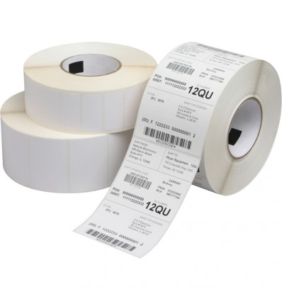 Etiqueta Couché Brillo Impresora Transferencia Térmica 50x50 y 120mm diámetro