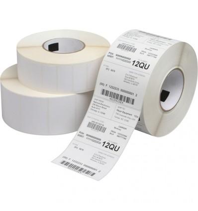 Etiqueta Blanco Mate Impresora Transferencia Térmica 100x100 y 102mm diámetro